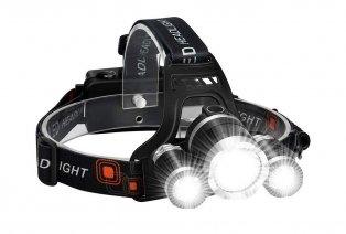 Akumulatorowa mocna latarka czołowa