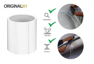 Waterdichte, transparante hersteltape