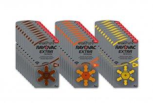 60 batterijen voor gehoorapparaten