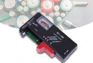 Práctico comprobador de batería
