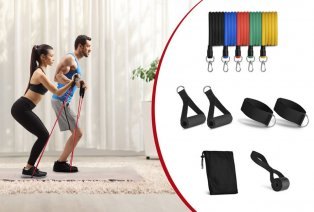 Set of resistance bands (11 pieces)