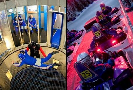 Icekarting ou parachutisme int rieur outspot for L aventure interieur