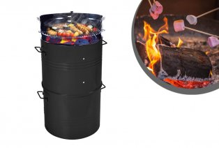 Barbecue baril XL au charbon de bois