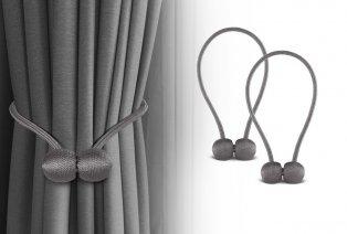 Juego de 2 o 4 sujetadores magnéticos para cortinas