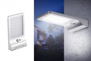 Solar-powered outdoor light with motion detection