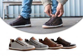 Baskets en cuir