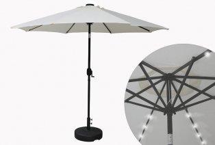 Parasol de jardín con iluminación LED