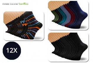 12 paires de chaussettes en bambou Pierre Calvini