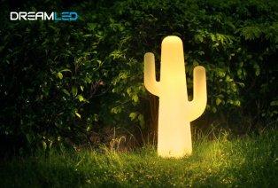 Lampe LED en forme de cactus