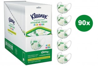 90 mascarillas Kleenex para niños