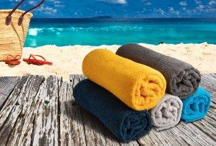 Set de 2 draps de plage en coton