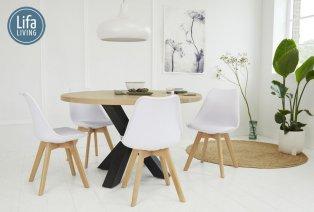 Set bestehend aus 4 Design Stühle