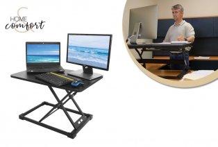 Height-adjustable desk stand