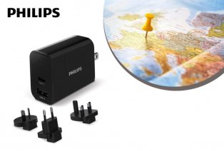 Universal travel plug and charger