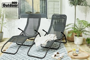 Set of two loungers
