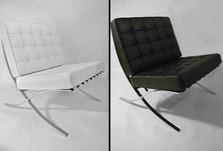 luxueuse r plique du fauteuil design 39 barcelona 39 et son repose pied outspot. Black Bedroom Furniture Sets. Home Design Ideas