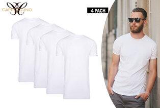 4-pak bawełnianych T-shirtów Cappuccino