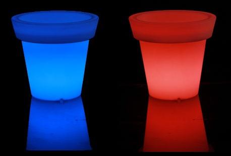 Lichtgevende led bloempot - Outspot