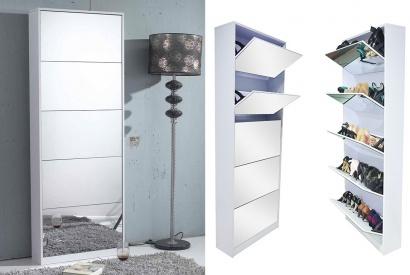 armario zapatero con espejo outspot. Black Bedroom Furniture Sets. Home Design Ideas