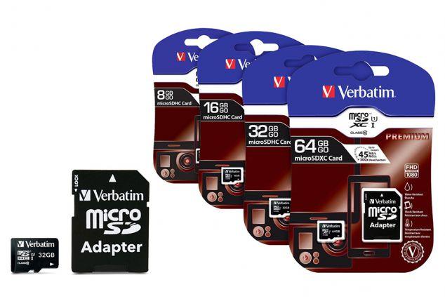 De l´espace de stockage supplémentaire grâce ? ces cartes Micro SDHC Verbatim Classe 10