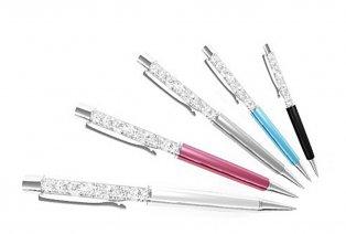 1, 2 ou 3 stylos à bille ornés de cristaux Swarovski