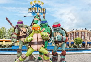 Familiepret in Movie Park Duitsland