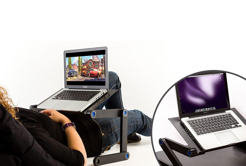 support pour ordinateur portable outspot. Black Bedroom Furniture Sets. Home Design Ideas