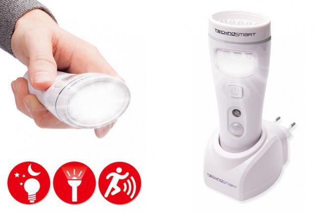 4-in-1 ledlamp met zaklamp, nachtlamp, werklicht e