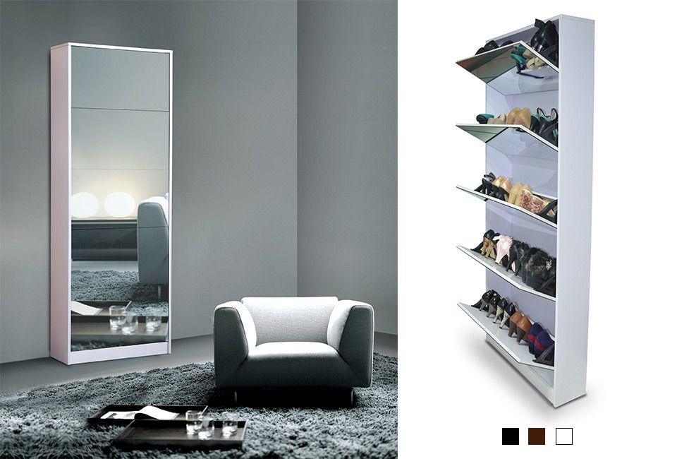 Meuble chaussures avec miroir outspot - Meuble a chaussures avec miroir ...
