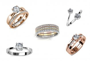 Ring met Swarovski Elementskristallen