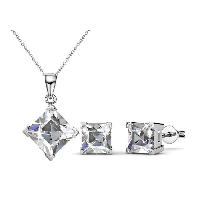 5 juwelensets met halsketting en oorbellen