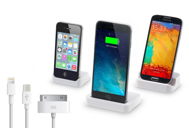 Oplaadstation voor iPhone of smartphone met USB-kabel van 3 m