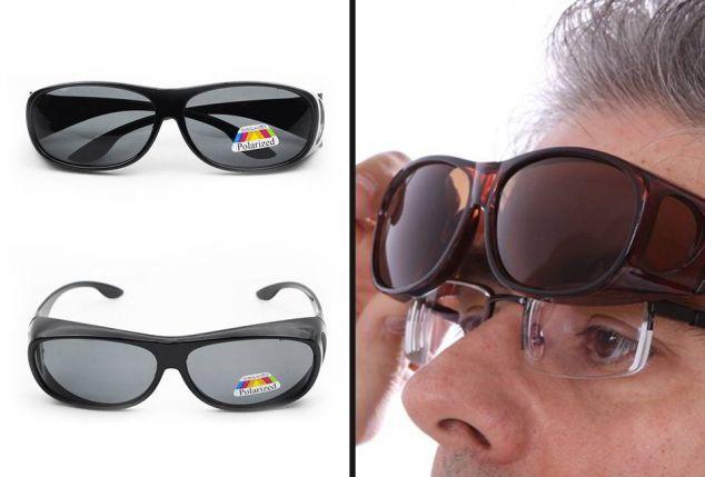 Overzetzonnebril met polariserende glazen, inclusi