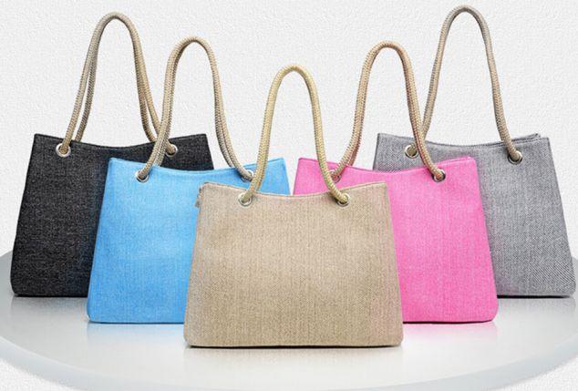 Linnen boho tas, verkrijgbaar in 6 kleuren