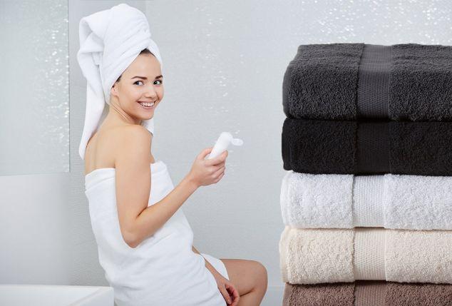 Set van 6 kwalitatieve handdoeken van Twentse Dama