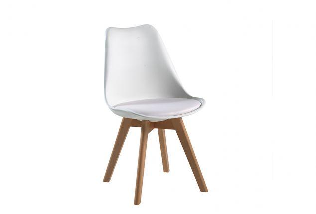 Lot de 2 chaises blanches design