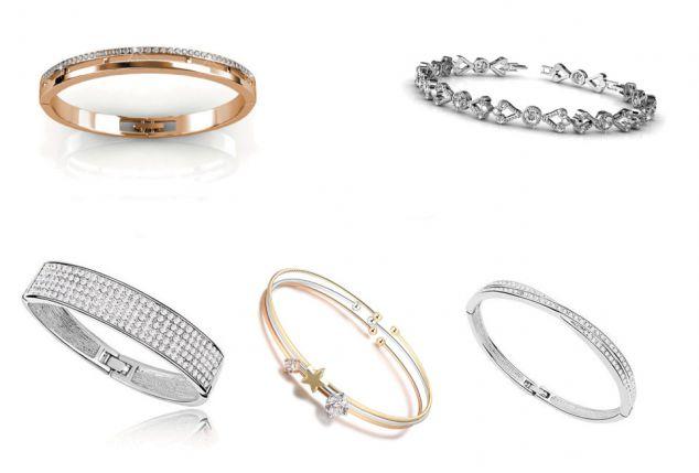 Élégant bracelet orné de cristaux de Swarovski Elements