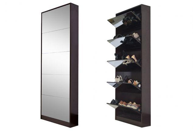meuble chaussures avec miroir