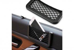 Set de 2 bolsas de malla adhesivas para el interior del coche