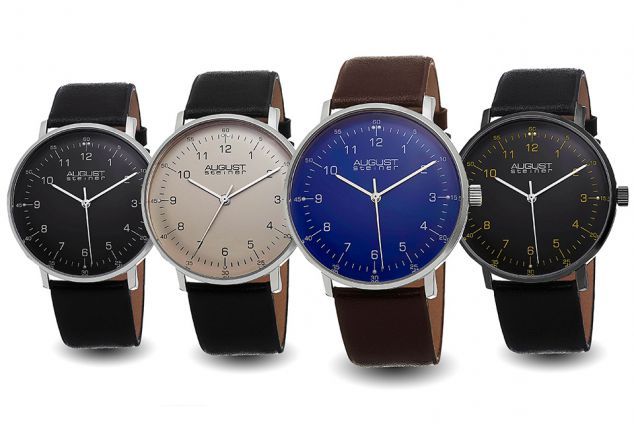 August Steiner herenhorloge, keuze uit 4 modellen,