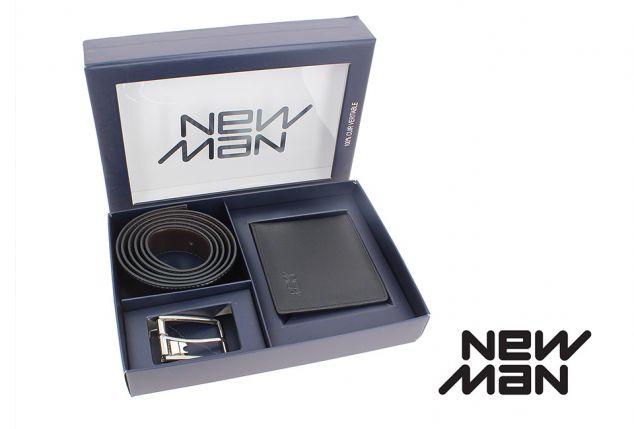 48ad59cfe93c Coffret cadeau pour homme comprenant un portefeuille et une ceinture en cuir,  livraison incluse