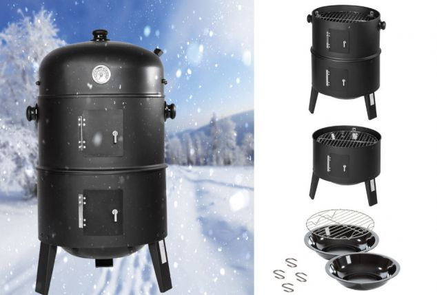 Barbecuesmoker voor een heerlijke winterbarbecue,