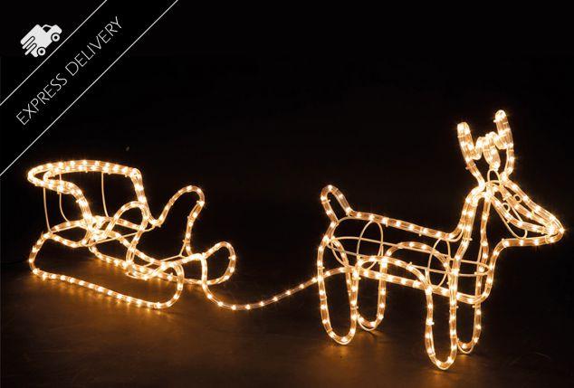 Reno de navidad con luces led outspot - Renos de navidad con luces ...