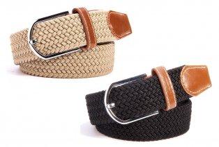 Elegante cinturón trenzado
