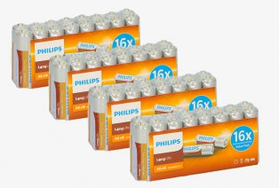 AA oder AAA Philips-Batterien