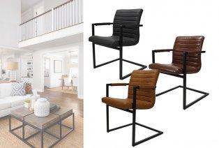 Set van 2 vintage industriële stoelen