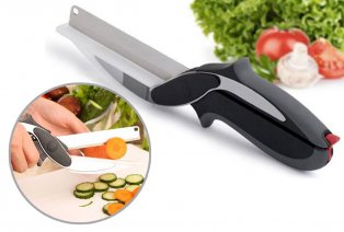 Pratico utensile di taglio 2 in 1 per cucina