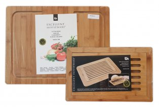 Planches à pain et à découper en bambou