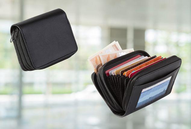 Portefeuille compact pour cartes bancaires et de fidélité