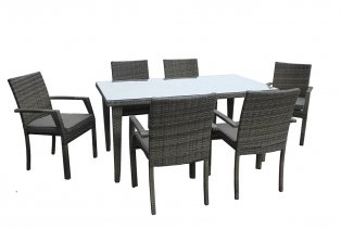 Set tavolo con quattro sedie per esterno in polyrattan mapaonline